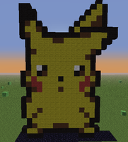 Minecraft - Pikachu #2 by Unstable-Life
