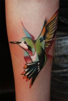 bird II by evilmoon-tattoo