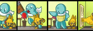 Squirtle: Babysitting by SHIBUYA401