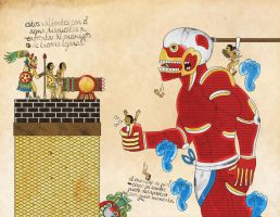 Attack on titan Aztec version by labalaenlabiblia