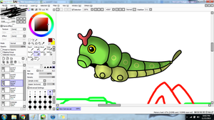 Caterpie W.I.P by YoshiTheWolf
