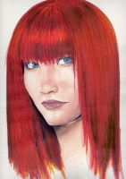 Water color redheaded by nyumexico