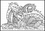 Dragon and Fluffykins lineart by rachaelm5