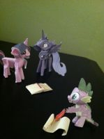 Twilight, Luna and Spike by Cafante