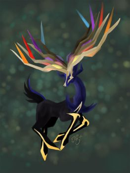 Xerneas by Elera