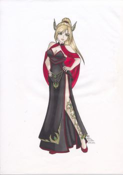 Roseheart Boutique: Blood Knight Gown by Danica-Malbaski