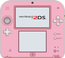 Nintendo 2DS [Pink + White] by BLUEamnesiac