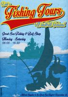 Link's Fishing Tours Poster by CitizenWolfie