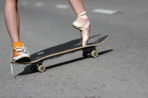 Skateboarding Ballerina by PhotoYoung