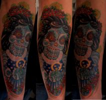 day of the dead bride by newtskewltattoo