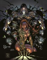 THE DARKNESS AND WITCHBLADE by CRYPTID-MAN