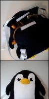 Penguin Plushie Backpack by jloli