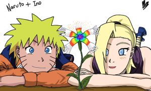 Naruto and Ino by AlphaDelta1001