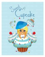 KYOOMS Inspirational Art -Sweet As A Cupcake by vectorgurl