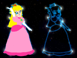Peach's Constellation Colored by Me -Mario Party 4 by PinkPrincessPeachy