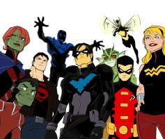Young Justice: Colored by Blanca-Cardenas