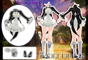 MMD AION - Loli dress - [DOWNLOAD][DL] by Milionna