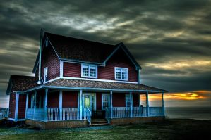 Home on a Hill - HDR by Witch-Dr-Tim