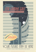 City Campus East Poster by ameba2k