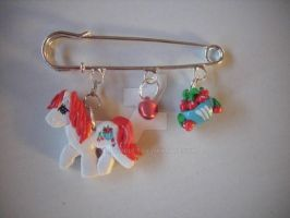 My little Pony G1 Brooch Cherry Treats pin brooch by BerryMouse