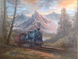mountain train by plasztikszar