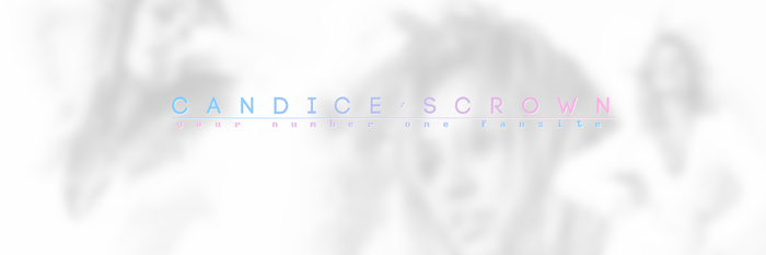 Classy Twitter header for CandysCrown by 17studio