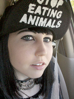 Stop Eating Animals Hat by SallyGauge