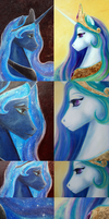 sister portaits by CosmicUnicorn