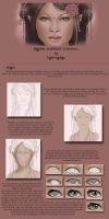 Digital portrait tutorial 1 by Nymonyrya