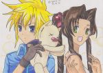 Cloud gives Aerith a Mogry by KasumiKetchum