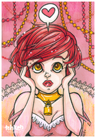 Unlock Love ACEO by tea-bug