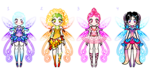 Fairy Sailor Senshi Batch Adoptables CLOSED by YukiMiyasawa