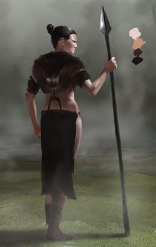 Girl With Spear by carsten-j