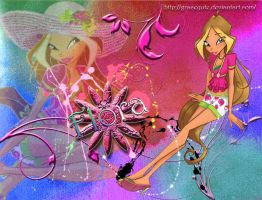 Flora Winx Fruity Wallpaper by GraceQute