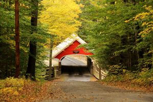 Covered Bridge in Fall. by sweatangel