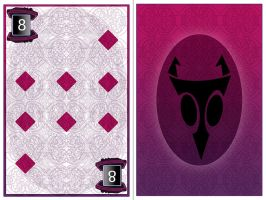 Invader Zim poker game-  8 of diamonds by NeoWolfgang