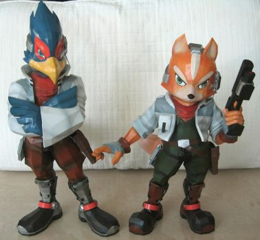 Falco and Fox 3D prints by togepi1125