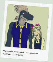 Old Polaroid Pic of Justin and Melian by MelianOfMist