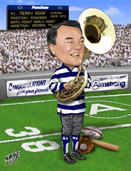Terry Retirement Caricature by MrExcite