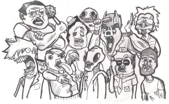Weird crowd by greavesman