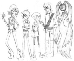 The Paranormal Dorks go to Gravity Falls by KPenDragon