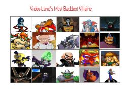 Video-Land's Most Baddest Villains by trexking45