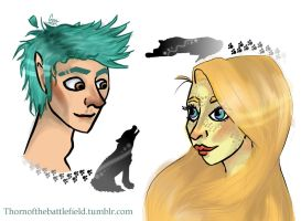 Teddy and Victoire - Children of the Wolf by IceColdFireyAngel