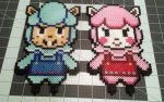 Animal Crossing Cyrus and Reese Perler Sprites by DogerCraft