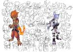 Flame Kid and Wolf Kid sketch by Garmmon