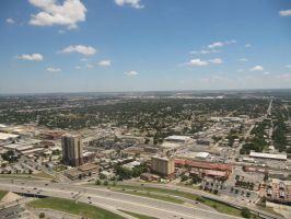 San Antonio from the Tower of the Americas by discountabortions
