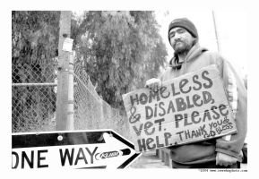 proud homeless guy by cweeks