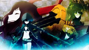 Black Rock Shooter Wallpaper by EclairDesigns