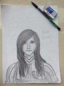 how i think Erza would look like by TwilightKira27