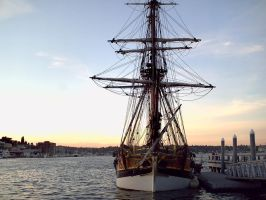 The lady Washington, docked by Guardian0660